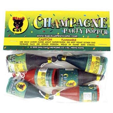 Black Cat Champagne Poppers 6 pcs   Springfield Fireworks