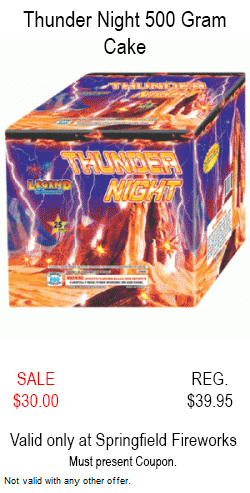 Thunder Night 500 Gram Cake