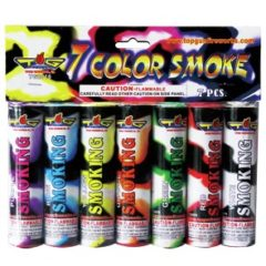 7 color smoke bombs firework