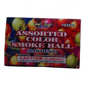 assorted color smoke balls firework