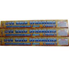 14 inch gold sparkler topgun