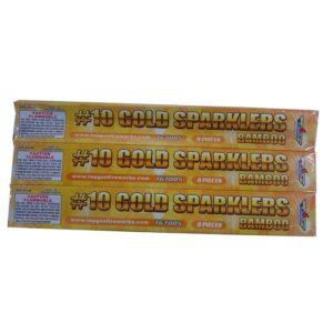 topgun no 10 gold sparklers firework