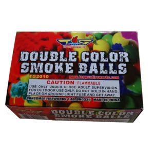 double color smoke balls firewor