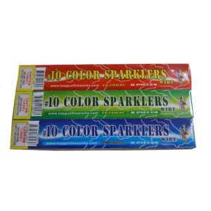 no 10 color sparkler metal wire