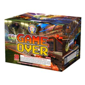 game over brothers 500 gram cake firework