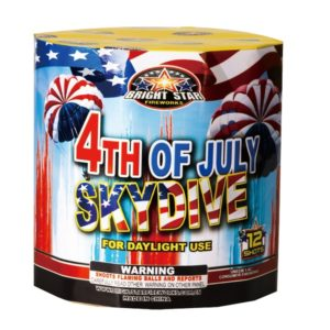 4th of july skydive parachute firework