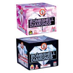 bombshell diamond 500 gram cake firework