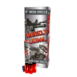 barely legal 5 inch canister shells 60 gram Showtime firework