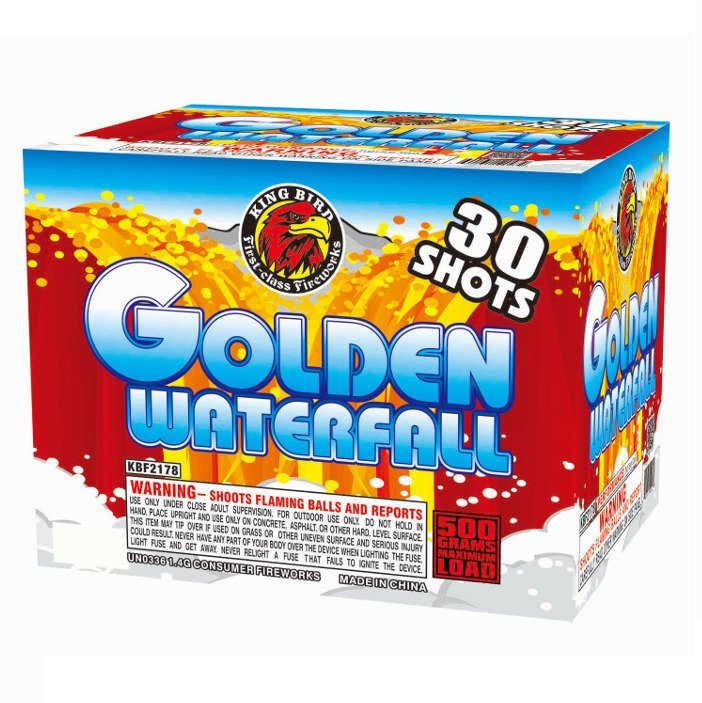 golden waterfall 500 gram cake kingbird firework