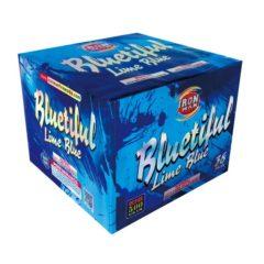 bluetiful lime blue topgun 500 gram cake firework