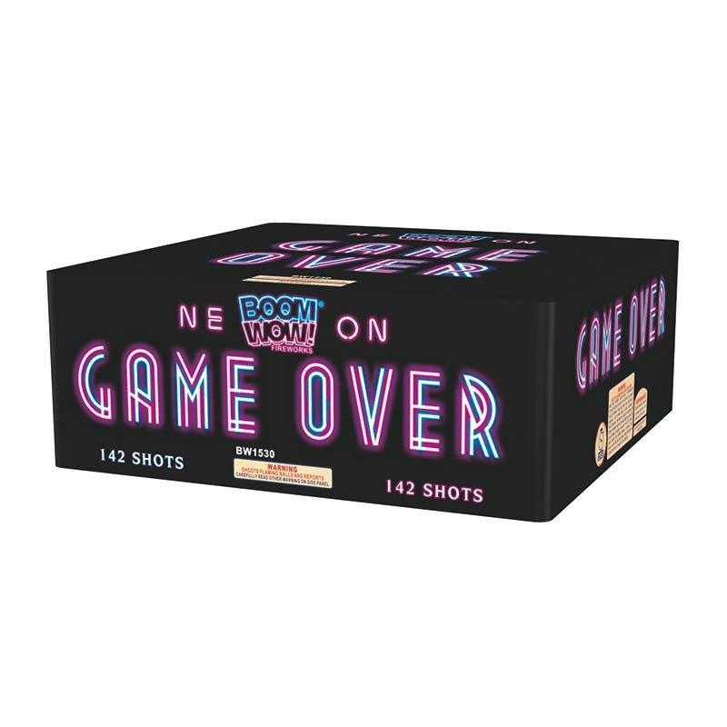game over 500 gram cake boomwow firework