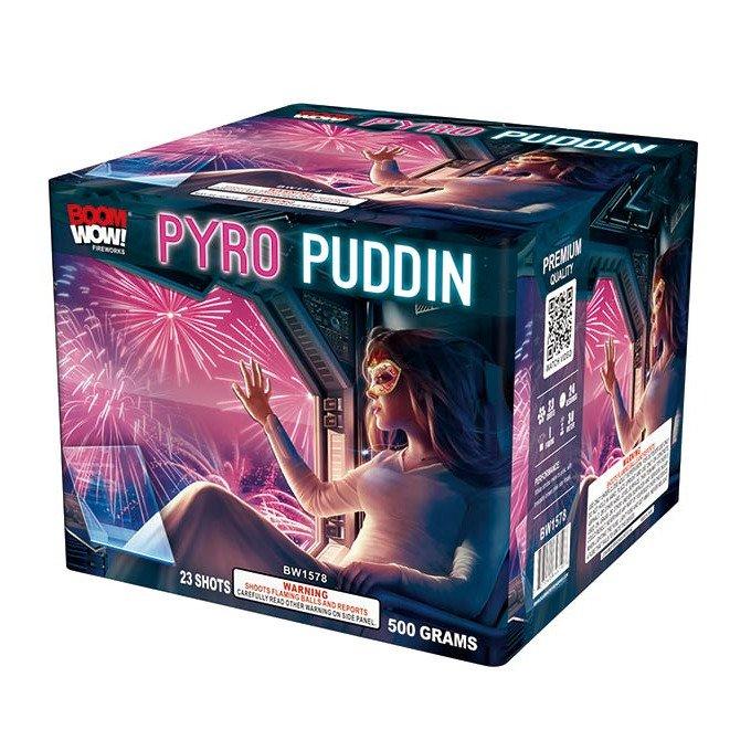pyro puddin 500 gram cake boomwow firework