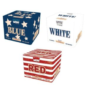 red white blue 500 gram cake boomwow firework
